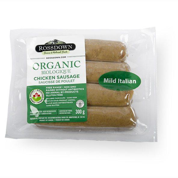 Rossdown Farms Mild Italian Organic Chicken Sausage