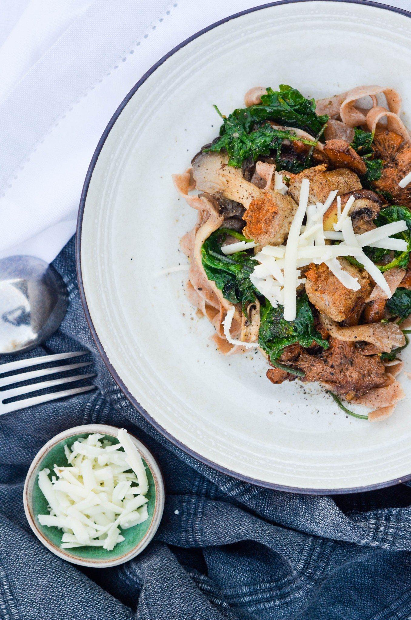 Mushroom, Kate & Chicken Sausage Pasta