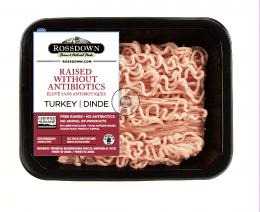 Rossdown- Ground Turkey Breast- Raised Without Antibiotics