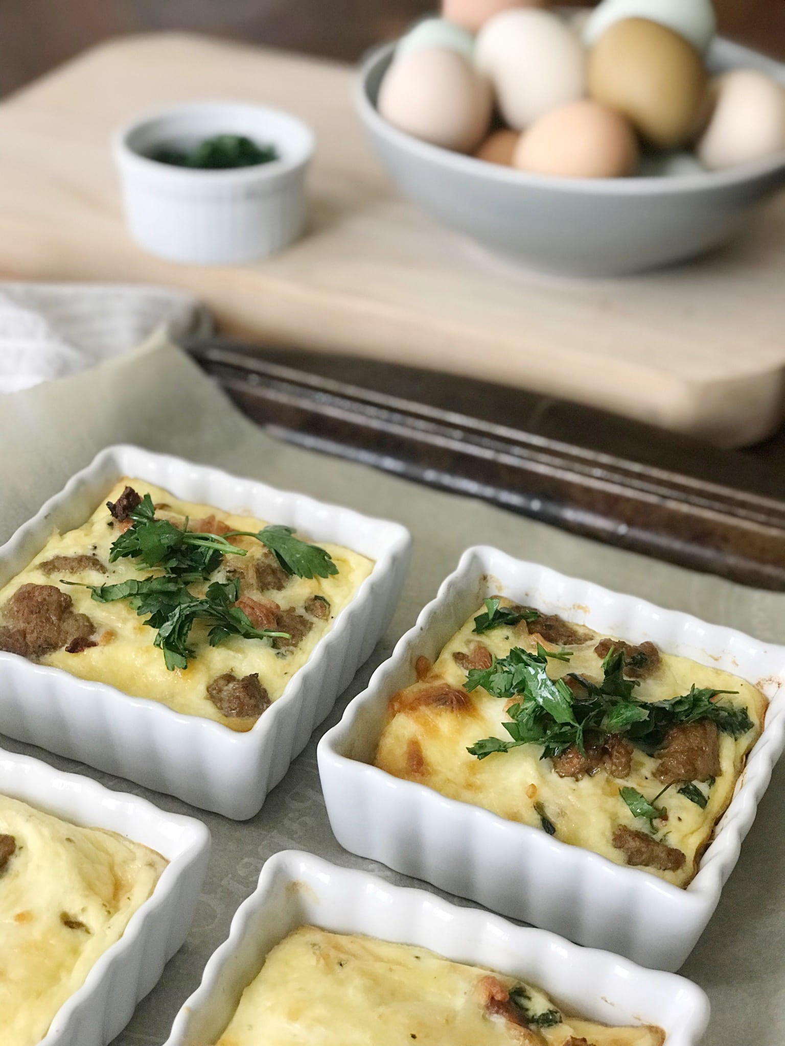 Egg & Chicken Sausage Bake